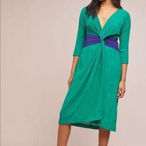 NEW Anthropologie Sorley Twist-Front Dress